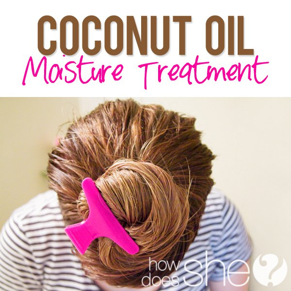 Coconut oil conditioner simple and easy
